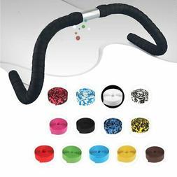 1 Pair Road Bike Handlebar Bar Grip Wrap Ribbon Tape + 2 Bar