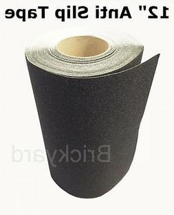 "12"" x 5' BLACK Roll Safety Non Skid Tape Anti Slip Tape Stic"
