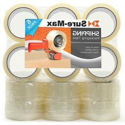 18 Rolls Carton Sealing Clear Packing Tape Box Shipping - 2