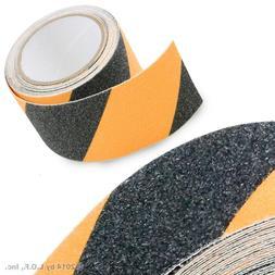 "2"" x 15' Black Yellow Safety Non Skid Tape Anti Slip Tape St"