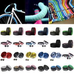 2pc Rubber Foam Bike Bicycle Handlebar Tape Cycling Wrap Gri