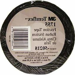 3M Temflex Cotton Friction Tape 1755 Black 3/4 in x 60 ft
