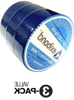 """3 ROLLS Painters Masking tape 60yd x 1.41"""" inch General Purp"""