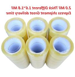 36 Rolls Clear Packing Packaging Carton Sealing Tape 2.0 Mil