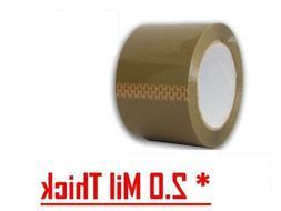 36 Rolls Premium Brown Carton Box Sealing Packing Tape 2 Mil