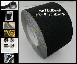 "4"" x 10' Non Skid Tape Black Roll Safety Anti Slip Sticker G"
