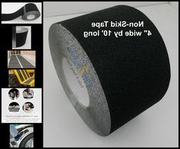 """4"""" x 10' Non Skid Tape Black Roll Safety Anti Slip Sticker G"""