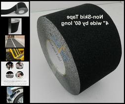 "4"" x 60' Non Skid Tape Black Roll Safety Anti Slip Sticker G"