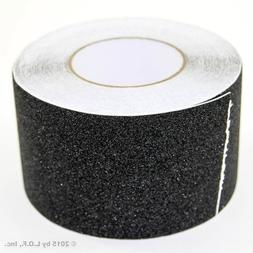 "4"" x 60' Non Skid Tape Black Roll Safety Anti Slip Tape Stic"