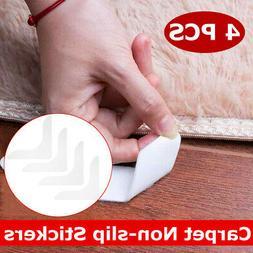 4Pcs Carpet Anti Slip Grip Sticker Strip Pad Bath Floor Non