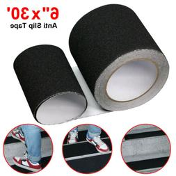 "6"" x 30' Black Roll Safety Non Skid Tape Anti Slip Tape Stic"