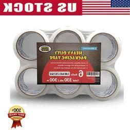 6Rolls Carton Sealing Clear Packing Packaging Tape Box Shipp
