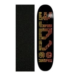 "Plan B 8.25"" Cole Concert Skateboard Deck With Mob Grip Tape"