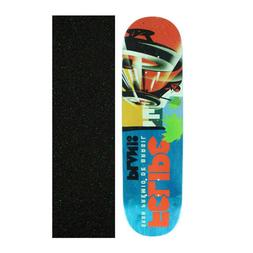 "Plan B 8.25"" Felipe Racers Skateboard Deck With Mob Griptape"