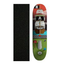 "Plan B 8.25"" Sheckler Pirate Ship Skateboard Deck With Mob G"