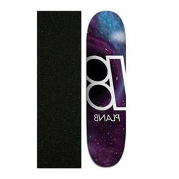 "Plan B 8.25"" Team Black Hole Skateboard Deck With Grip Tape"