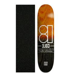 "Plan B 8.5"" Cole Split Skateboard Deck With Mob Griptape"