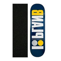 "Plan B 8.75"" OG Navy Skateboard Deck With Grip Tape"