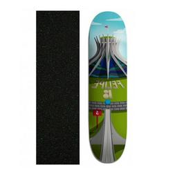 "Plan B 8"" Felipe Gustavo Cathedral Skateboard Deck With Mob"