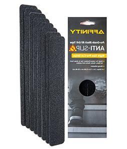 Anti-Slip Tape - Premium 8 Pre-cut Strips, Black 80 Grit Sli