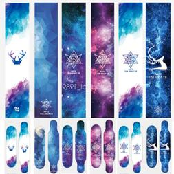 Aurora Skateboard Longboard Short Cruiser Board Grip Tape St