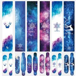 Aurora Skateboard Longboard Short  Board Grip Tape Sticker D
