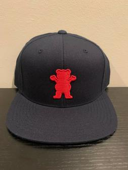 Grizzly Griptape Bear Navy Blue Snapback Hat New OSFM Cap Sk