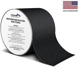 SlipDoctors Outdoor Black Anti-Slip Safety Tape 4 inch x 15
