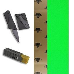 Black Diamond 9x33 Neon Green Skateboard Griptape + Grip Kni