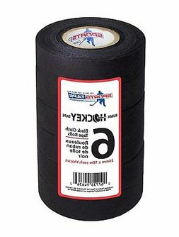 black hockey tape - stick tape - 6 rolls - 1 inch wide,20 ya