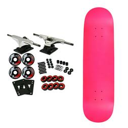 MOOSE Blank Skateboared Complete 8.0 NEON PINK - With Gripta