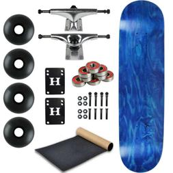 MOOSE Blank Skateboared Complete 8.25 STAINED BLUE - With Gr
