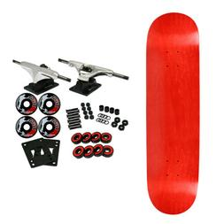 MOOSE Blank Skateboared Complete 8.25 STAINED RED - With Gri