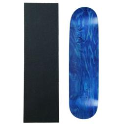 """MOOSE Blank Skateboared Deck 8.25"""" STAINED BLUE - With Gript"""