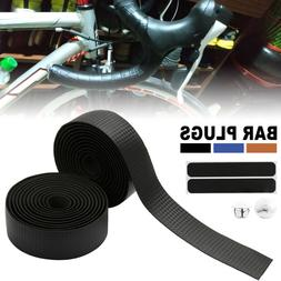 Carbon Pattern Handle Bar Handlebar Grip Wrap Tape Bike Cycl