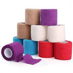 Cohesive Bandage, Self Adherent Wrap, 2 Inches x 5 Yards, 10