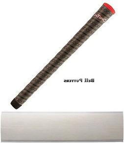 Winn Dri-Tac Wrap Standard Dark Gray/Red Cap Golf Grip-Men/M