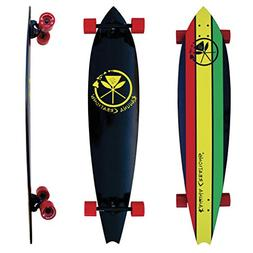 "Kahuna Creations Drop Deck 43"" Bamboo Longboard Complete Sta"