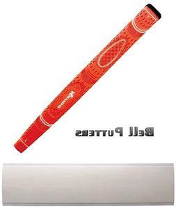 Karma Dual Touch Orange Midsize Paddle Putter Golf Grip-Grip