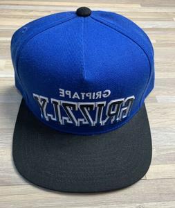Grizzly Griptape Flat Brim Snapback Hat Blue/Black Circa 201