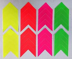 FLUORESCENT DIRECTIONAL CLOTH TAPE ARROWS SAFETY WARNING FLO