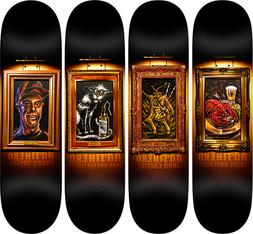 "Anti Hero Skateboards Full ""Black Velvet"" Art Series Lot Set"