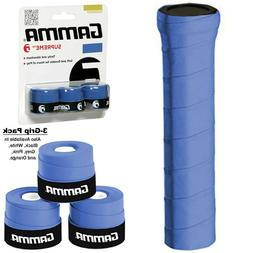 Gamma Supreme Overgrip Blue 3-pack Tennis Racket Grips Resea