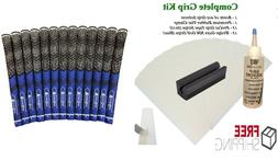 Golf Club GRIP KIT 13 Tape Strips, Solvent, Clamp, and Multi