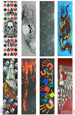 "Graphic Skateboard Grip Tape  9"" x 33"" Multiple Graphics to"