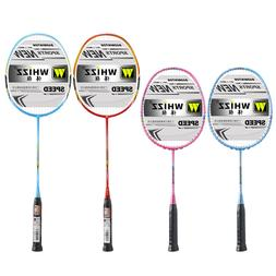 Whizz Graphite Badminton Rackets for Kids & Adult, Large Bag