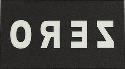 """ZERO GRIP-STRIP 5""""X9"""" SINGLE PIECE BLK/CLEAR"""