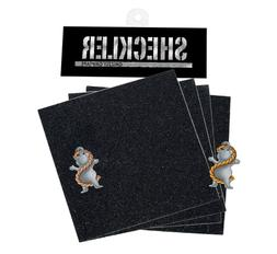 Grizzly Grip Tape Ryan Sheckler 4 DIE CUT SQUARES + STICKER