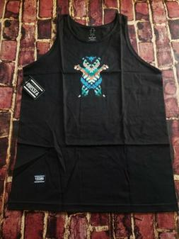 GRIZZLY GRIP TAPE Black Tank with Bear Mens NWT Size Large