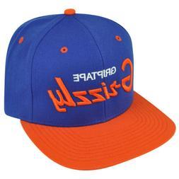 Grizzly Grip Tape Blue Orange Snapback Hat Cap Skateboard Sk
